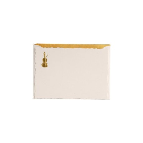 Card with a golden motif + envelope