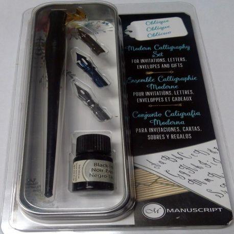 Modern Calligraphy Set with Oblique Penholder
