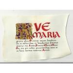 Modlitwa Ave Maria na pergaminie