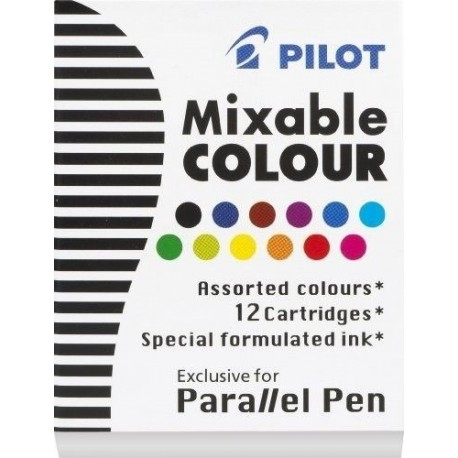 Pilot Parallel Pen Refill Assorted Ink 12pack
