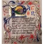 Modlitwa Pater noster na pergaminie