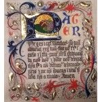 Pater noster on parchment