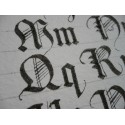 Handwritten calligraphy pattern papers