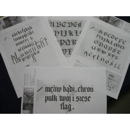 Wzorniki z warsztatów Kaligrafa
